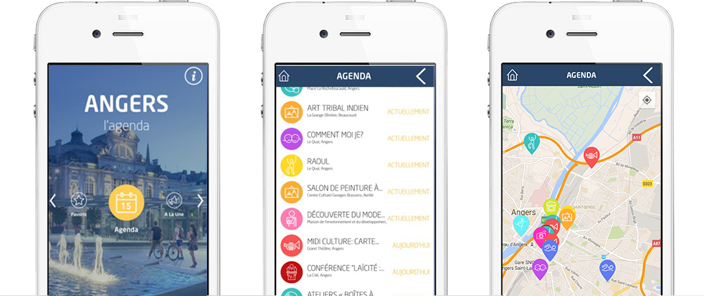 Angers l'agenda application mobile iOS Android