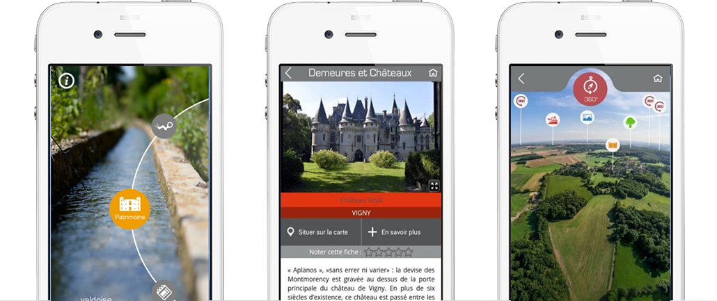 Val d'Oise MyBalade application mobile iOS Android